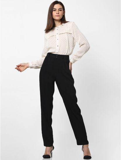 Black High Waist Slim Pants