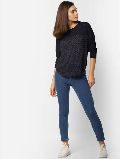 Blue High Waist Skinny Fit Jeans