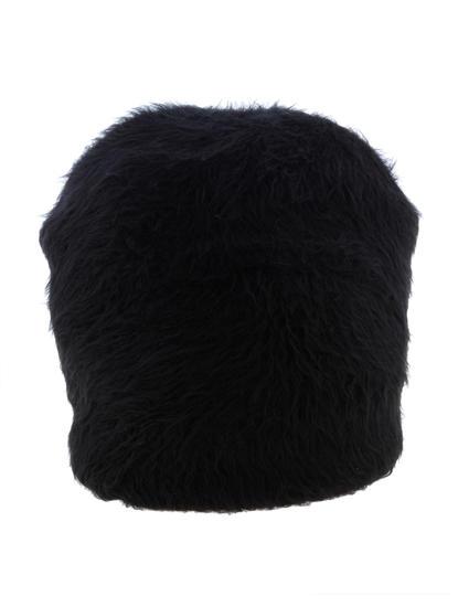 Black Fur Beanie