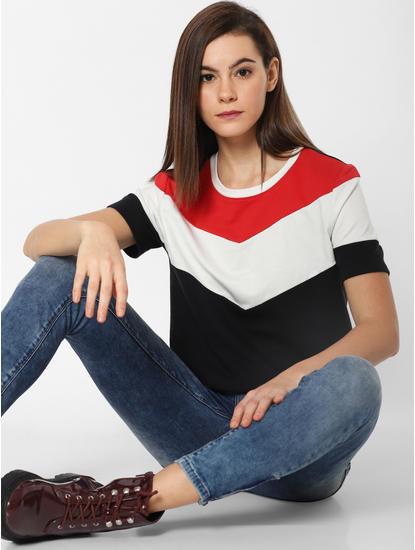 Black Colourblocked Sweatshirt