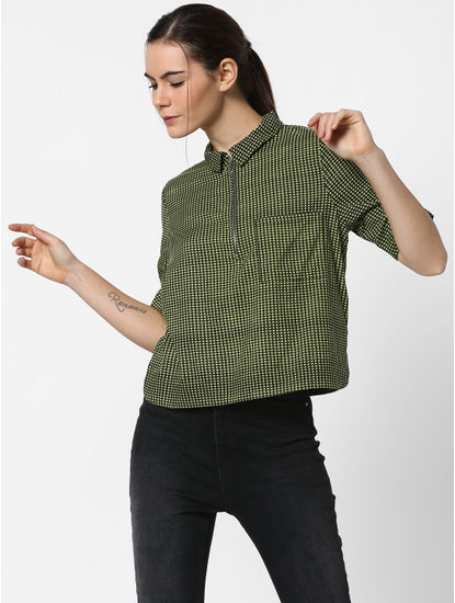 Green Check Shirt