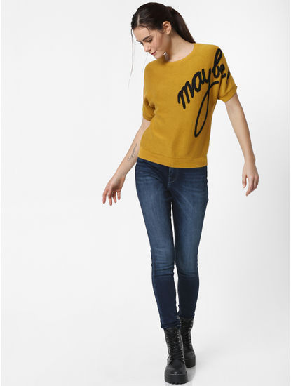 Mustard Maybe Print Pullover