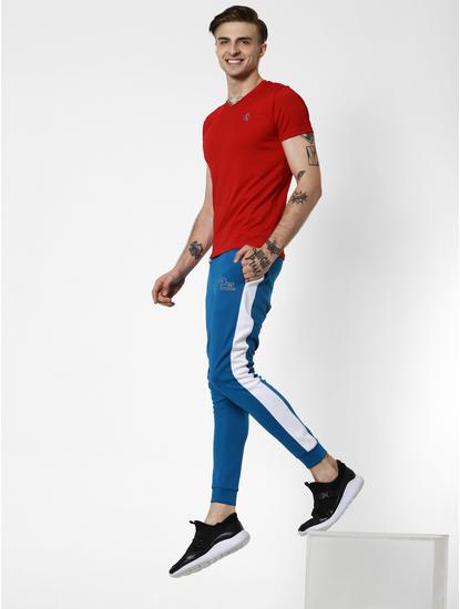 Blue Tape Detail Slim Trackpants