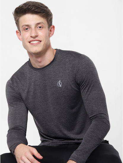 Black Printed Crew Neck T-Shirt