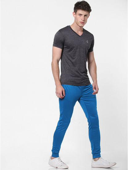 Blue Drawstring Slim Trackpants