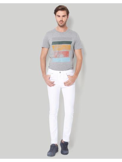 White Regular Fit Jeans