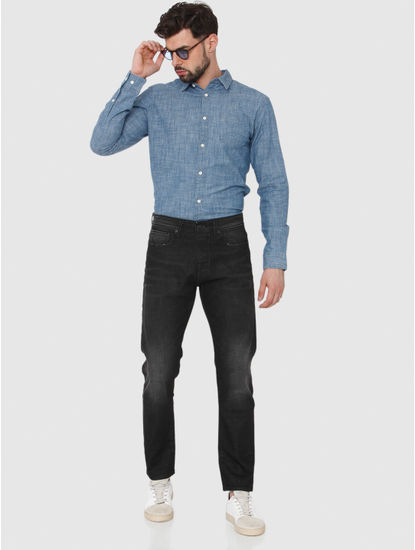 Black Faded Toby Tapered Fit Jeans