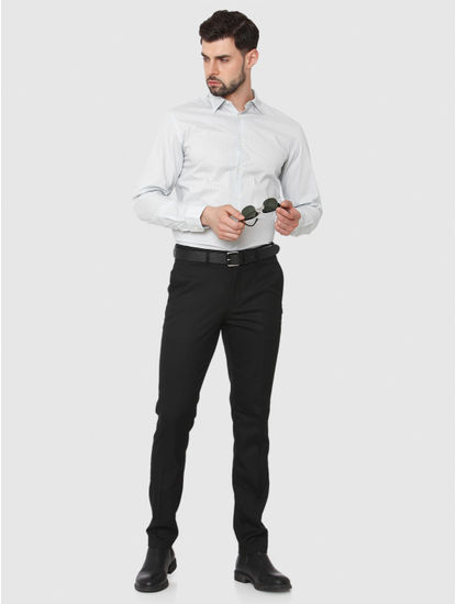 Black Slim Fit Formal Trousers