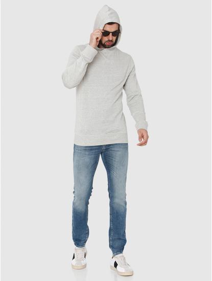 Light Grey Hooded Sweatshirt