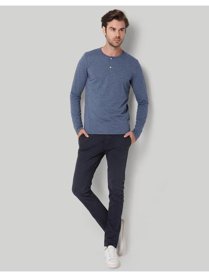 Blue Henley T-Shirt