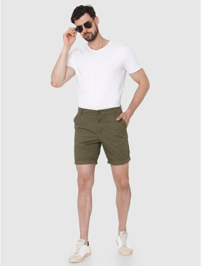 Olive Green Chino Shorts