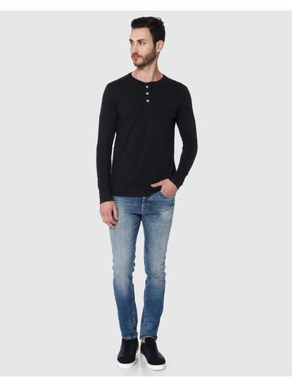 Black Henley T-Shirt