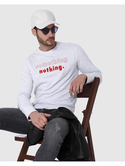 Light Grey Text Print Sweatshirt
