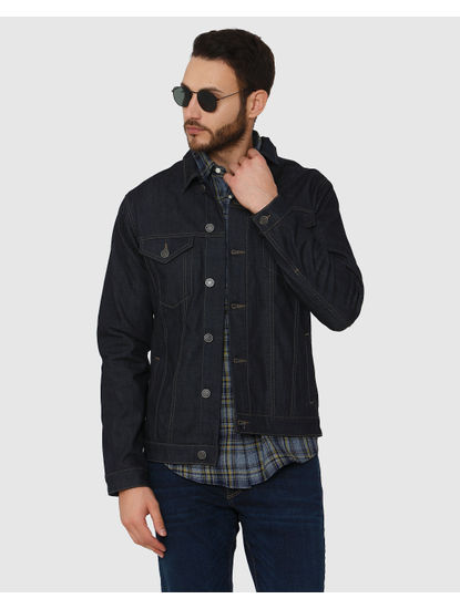 Dark Blue Tartan Checks Slim Fit Full Sleeves Shirt