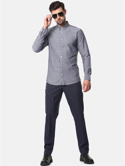 Grey Formal Full Sleeves Shirt