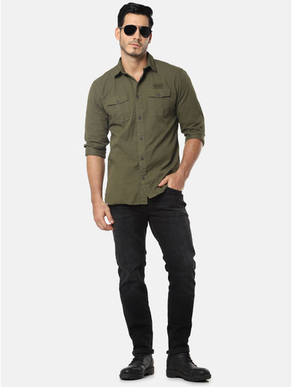 Dark Green Full Sleeves Shirt