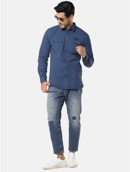 Dark Blue Full Sleeves Shirt