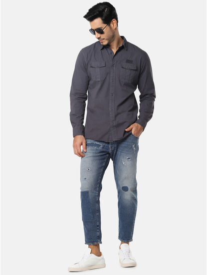 Dark Grey Full Sleeves Shirt