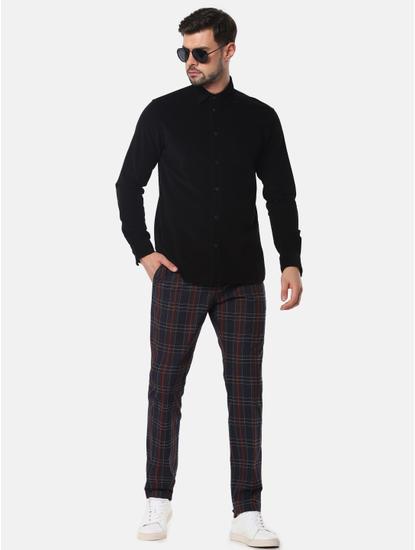 Black Corduroy Full Sleeves Shirt