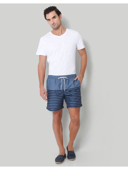 Blue Striped Swimshorts
