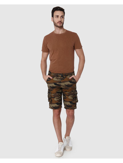 Brown Camo Cargo Shorts
