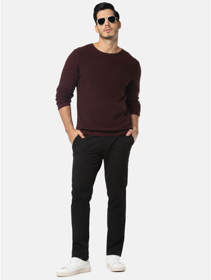 Burgundy Slim Fit Pullover
