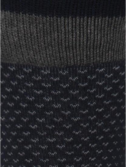 Navy Blue Mid Calf Length Socks