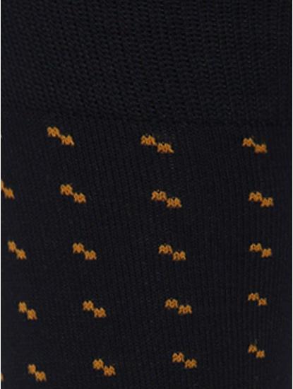 Black Printed Mid Calf Length Socks