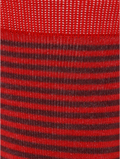 Red Striped Mid Calf Length Socks