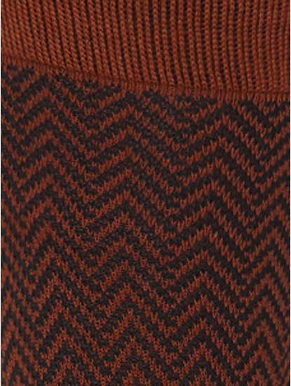 Brown Mid Calf Length Socks