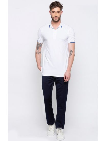 Light Blue Solid Narrow Fit Jeans
