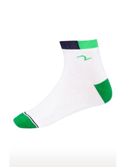 Green & Orange Solid Ankle length Socks