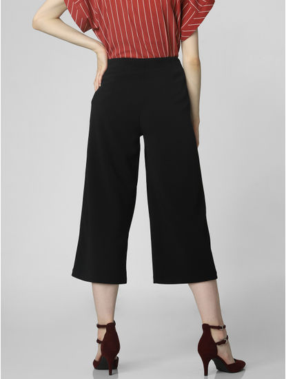 Black High Waist Culottes
