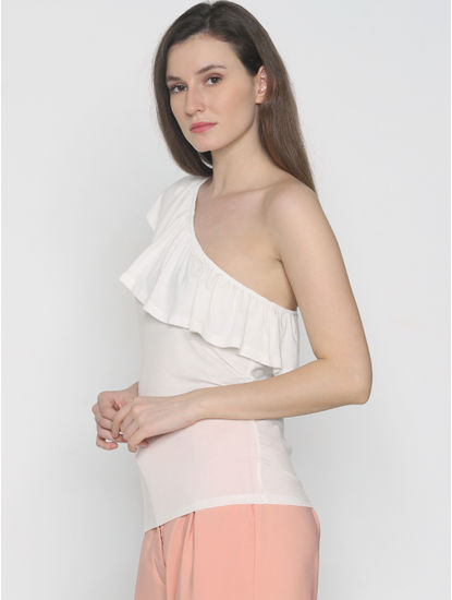 White One-Shoulder Top