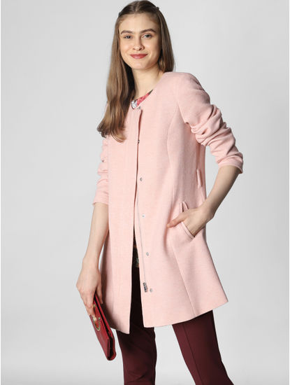 Light Pink Casual Jacket