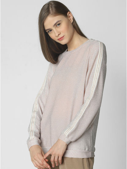 Light Pink Tape Detail Pullover