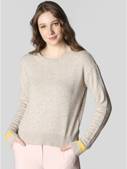 Cream Fitted Pullover