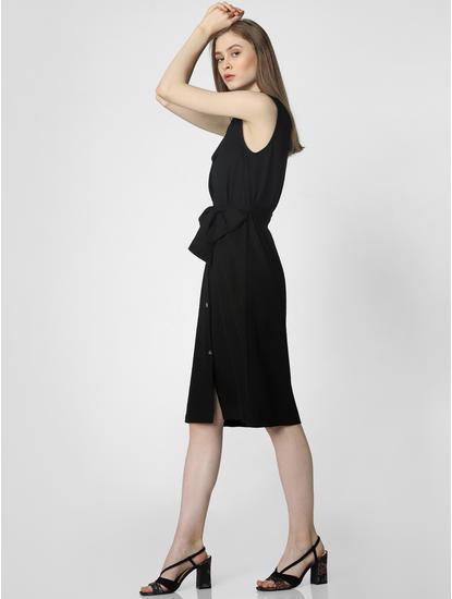 Black Belted Shirt Dress