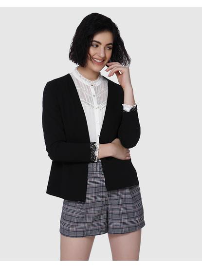 Black Lace Insert Blazer