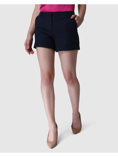 Blue Mid Rise Distressed Denim Skirt