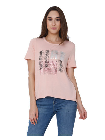 Pink Graphic Print T-Shirt