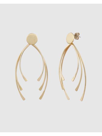 Gold Colour Drop Earrings
