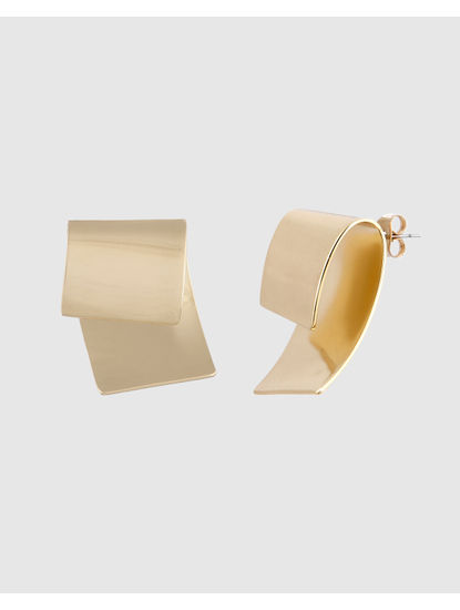 Gold Colour Stud Earrings