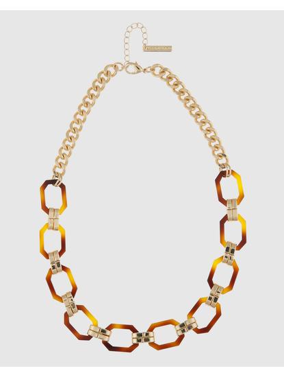 Gold Colour Link Necklace