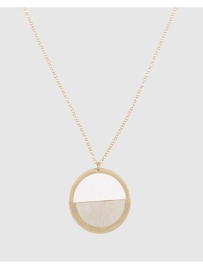 Gold Colour Hoop Pendant Necklace