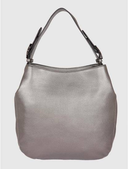 Metallic Grey Tote Bag