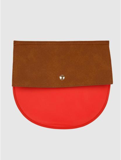 Coral Colour Blocked Sling Bag