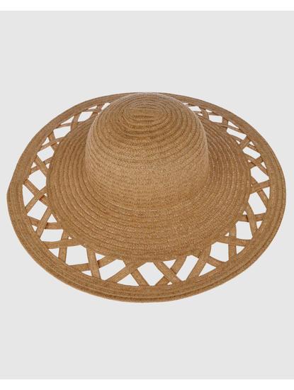 Beige Straw Beach Hat