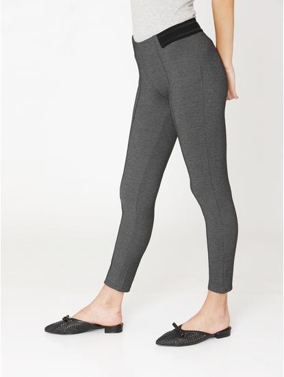 Dark Grey High Rise Skinny Fit Leggings