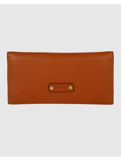 Brown Button Detail Wallet